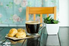 Coffee and choux Royalty Free Stock Image