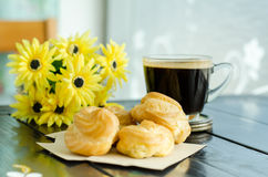 Coffee and choux Royalty Free Stock Photos