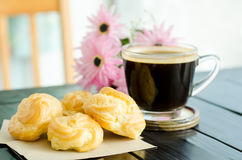 Coffee and choux Stock Photography