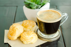 Coffee and choux Stock Image