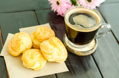 Coffee and choux Stock Photos