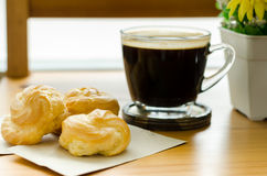 Coffee and choux Stock Images