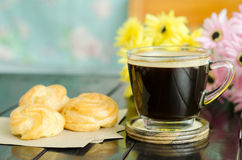 Coffee and choux Royalty Free Stock Photography