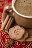 Coffee and Christmas Cake Royalty Free Stock Image