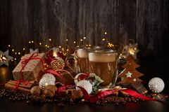 Coffee. Christmas and New Year composition stock photography