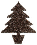Coffee Christmas tree Stock Photos
