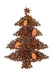 Coffee Christmas Tree Stock Image