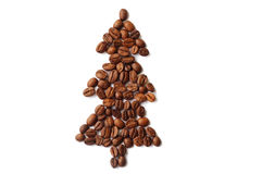 Coffee christmas tree Royalty Free Stock Photos