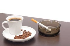 Coffee and cigarettes Stock Image