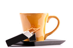 Coffee and Cigarettes. Perfect Pairing of Coffee and Cigarettes Stock Photography
