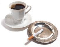 Coffee and cigarettes Royalty Free Stock Images
