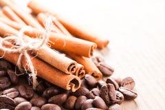 Coffee and cinnamon Royalty Free Stock Image