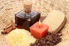 Coffee and cinnamon bath Stock Photos