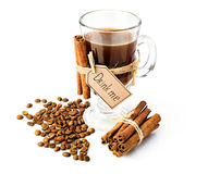 Coffee with cinnamon Royalty Free Stock Images