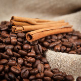 Coffee and cinnamon Stock Image