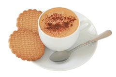 Coffee with cinnamon and cookies Royalty Free Stock Photos