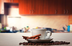 Coffee with cinnamon Stock Images