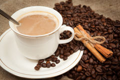Coffee and cinnamon Stock Photo