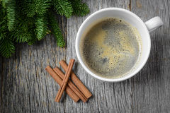 Coffee and Cinnamon for the Holidays Royalty Free Stock Images