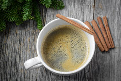 Coffee and Cinnamon for the Holidays Royalty Free Stock Photo