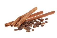 Coffee and Cinnamon. Isolated Stock Images