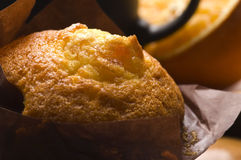 Coffee and cinnamon muffins Stock Photography