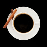 Coffee with cinnamon Royalty Free Stock Photography