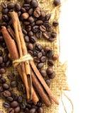 Coffee and Cinnamon Royalty Free Stock Photography