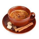 Coffee with cinnamon Royalty Free Stock Image