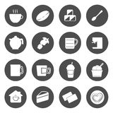Coffee Circle Icons Vector. Illustration Stock Photos
