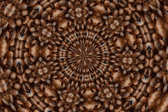 Coffee Circles Background Stock Photo