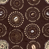 Coffee circles pattern Royalty Free Stock Photography
