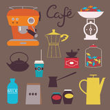 Coffee clip art Stock Images