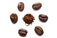 Coffee clock Stock Photo