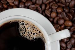 Coffee close-up Royalty Free Stock Photography