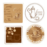 Coffee coaster design Royalty Free Stock Images