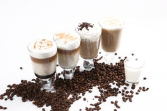 Coffee cocktail and coffee beans Stock Photo