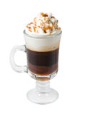 Coffee cocktail cup . Chocolate Coffee cocktail cup .Isolated on white background. clipping Path Stock Photography