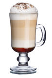 Coffee cocktail. Glass of coffee cocktail with foam decorated with cinnamon powder Stock Photo