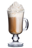 Coffee cocktail. Glass of coffee cocktail with ice cream (glasse Royalty Free Stock Images