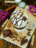 Coffee cocktail with whipped cream in an Irish coffee mug Stock Images