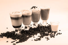 Coffee cocktails Royalty Free Stock Photo
