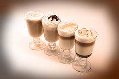 Coffee cocktails Royalty Free Stock Photos