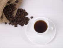Coffee and coffe beans Stock Photography