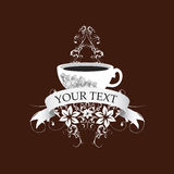 Coffee. Coffe graphic for your menu or promotion, or graphic advertising Royalty Free Stock Photography