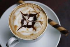 Coffee and coffee art Stock Photo