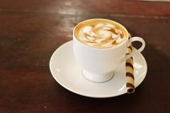 Coffee and coffee art Royalty Free Stock Photography