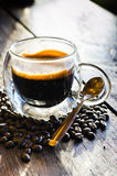 Coffee with coffee bean Royalty Free Stock Images