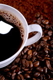 Coffee and coffee beans Stock Image