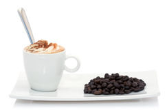 Coffee and coffee beans Royalty Free Stock Photography